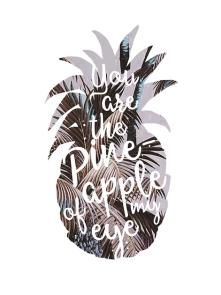 Poster Ananas Typo - © Nory Glory Prints