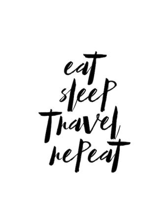 Poster Essen Sie Schlaf Reise wiederholen - © dear dear