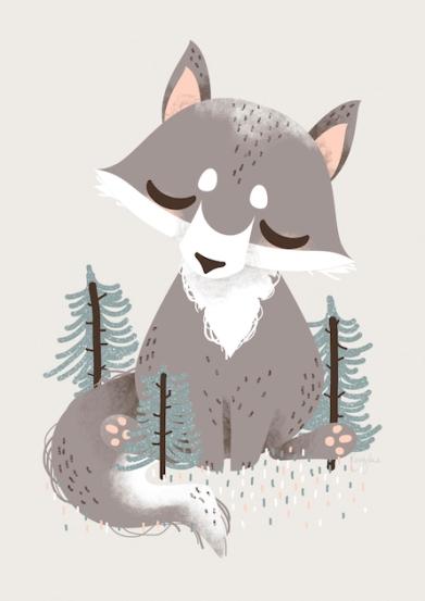 Poster Tierfreunde - Der Wolf - © Kanzi Lue