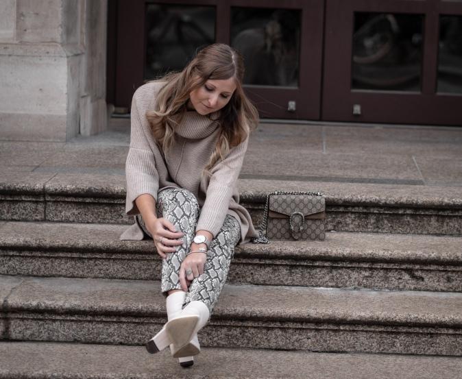 Maracujabluete Fashionblog Frankfurt Ootd Frühling Strickpullover Byaylinkönig Schlangenprint 12