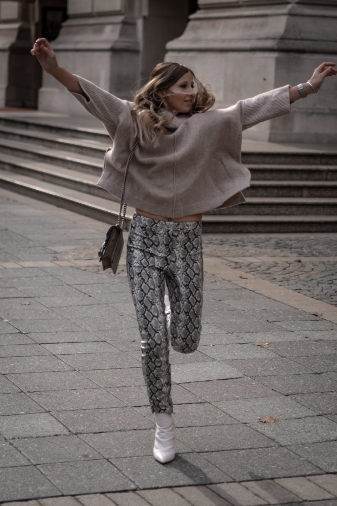 Maracujabluete Fashionblog Frankfurt Ootd Frühling Strickpullover Byaylinkönig Schlangenprint 18