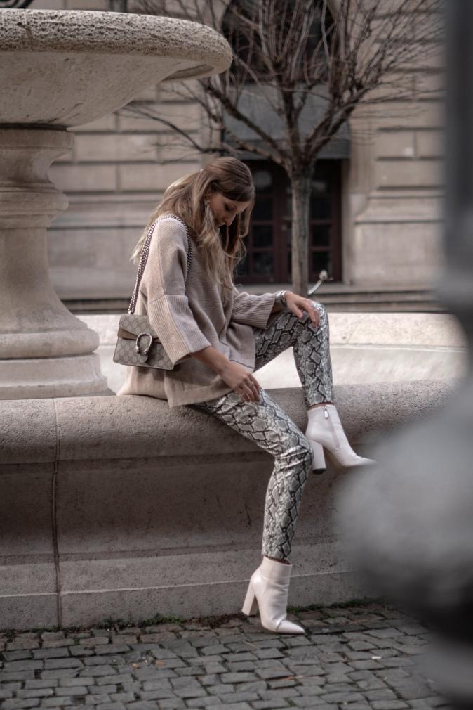Maracujabluete Fashionblog Frankfurt Ootd Frühling Strickpullover Byaylinkönig Schlangenprint 21