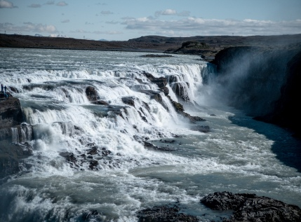 Gulfoss Waterfall Island